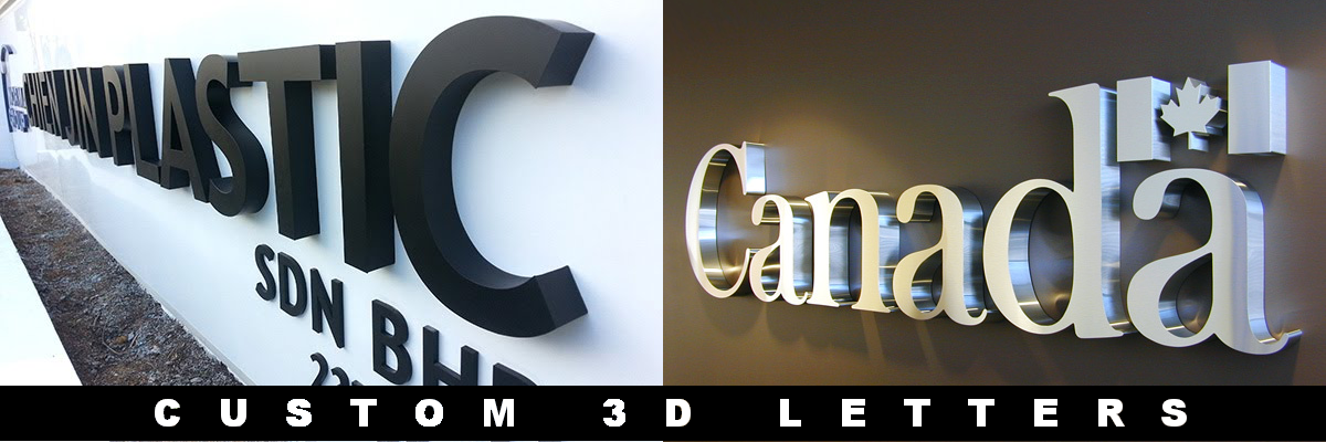 3D Letters, CNC Router Cut Letter Signs, Three Dimensional Letters, Foam Letters, Custom Cut-Out Letters, Custom Cut Out Signs, CNC Sign Fabrication, Outdoor Signs, Weatherproof Sign Letters