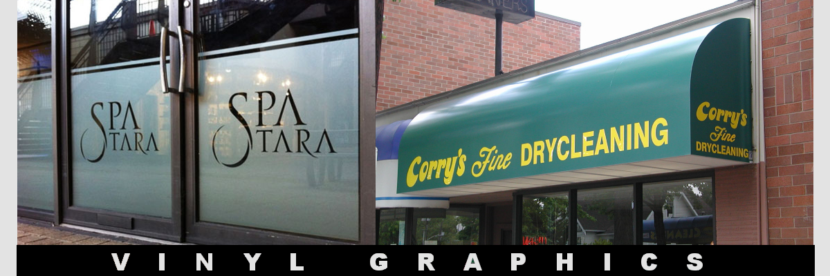 Vinyl Signs, Vinyl Graphics, Awnings, Awning Signs, Window Graphics, Window Sign, Portable Window Display Signs, Changeable Letter Signs